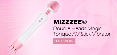 Mizzzee® Double Heads Magic Tongue AV Stick Vibrator Clitoris Nipples Stimulation Wand Massager Sex Toys For Women