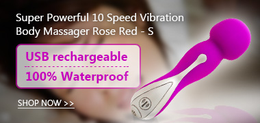 Super Powerful 10 Speed Vibration Body Massager Rose Red - S