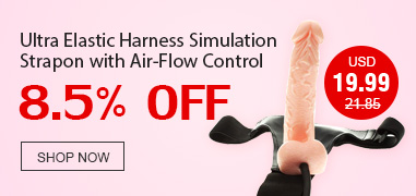 Ultra Elastic Harness Simulation Strapon with Air-Flow Control