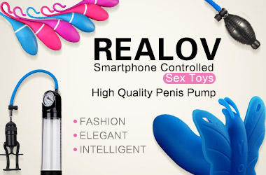 REALOV Smartphone Controlled Sex Toys and High Quality Penis Pump
