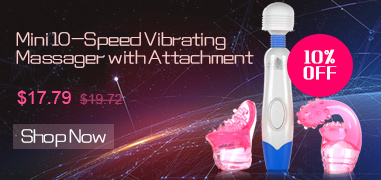 Mini 10-Speed Vibrating Massager with Attachment
